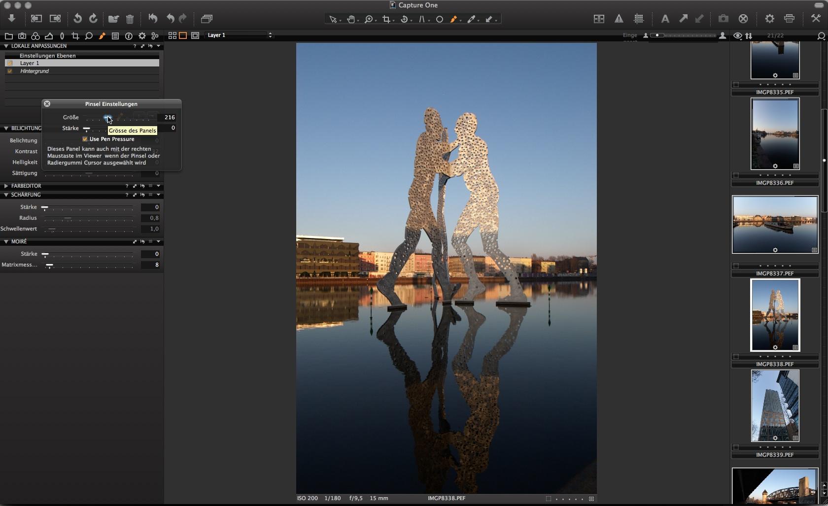 Capture One: Rohdatenentwickler unterstützt Grafiktablets -