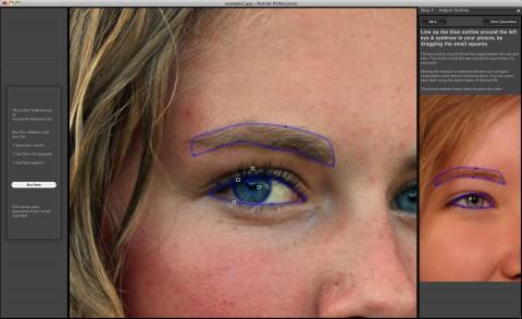 Portrait Professional 10 - Augenbereiche festlegen