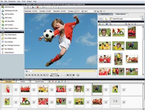 Roxio Video Lab HD 3D - Programmoberfläche