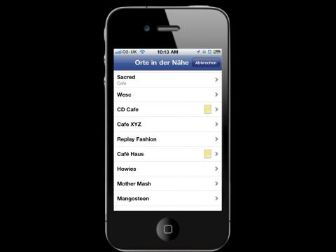 Facebook-Angebote - über Orte in der Nähe lassen sich  Rabattaktionen finden. (Bild: Facebook)