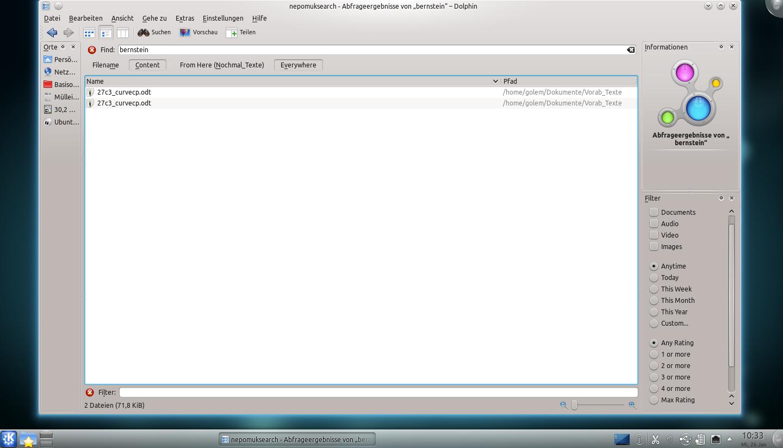 Test: KDE SC 4.6 zeigt Aktivität und glättet Fenster - Die Suche per Nepomuk in Dolphin