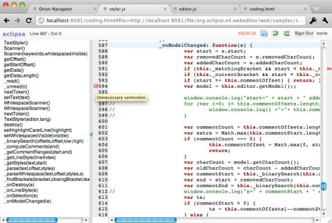 Das Projekt Orion verlagert die Entwicklungsumgebung in einen Browser.