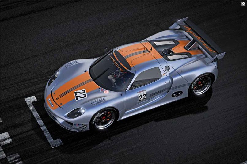 Detroit Auto Show: Porsche stellt Hybridrenner 918 RSR vor - Von der Form her ist der 918 RSR... (Bild: Porsche)