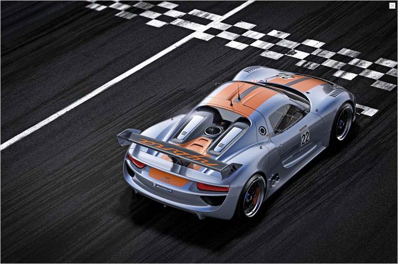 Detroit Auto Show: Porsche stellt Hybridrenner 918 RSR vor -