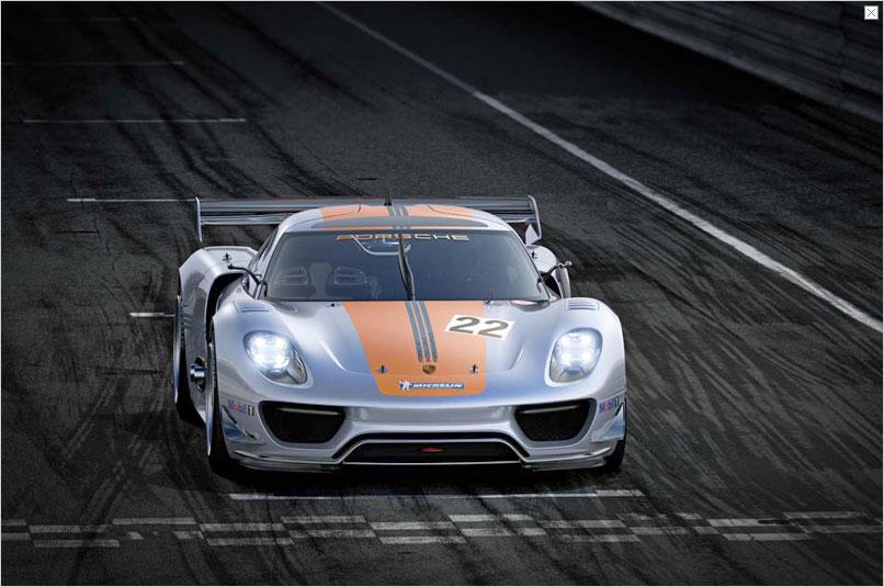 Detroit Auto Show: Porsche stellt Hybridrenner 918 RSR vor - Mit dem Auto will der Hersteller... (Bild: Porsche)