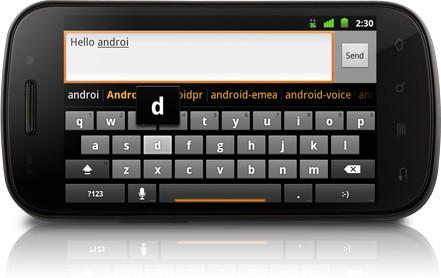 Android 2.3 mit verbesserter virtueller Tastatur