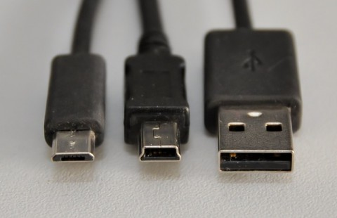 Von links: Micro-USB, Mini-USB, USB Typ A