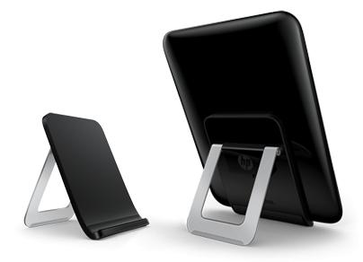 Das neue Touchstone-Dock erlaubt ein Aufladen des Touchpads ohne Kabel zum Tablet.