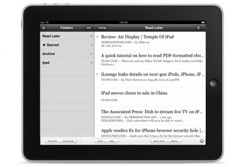 Readability für iOS basiert auf Instapaper