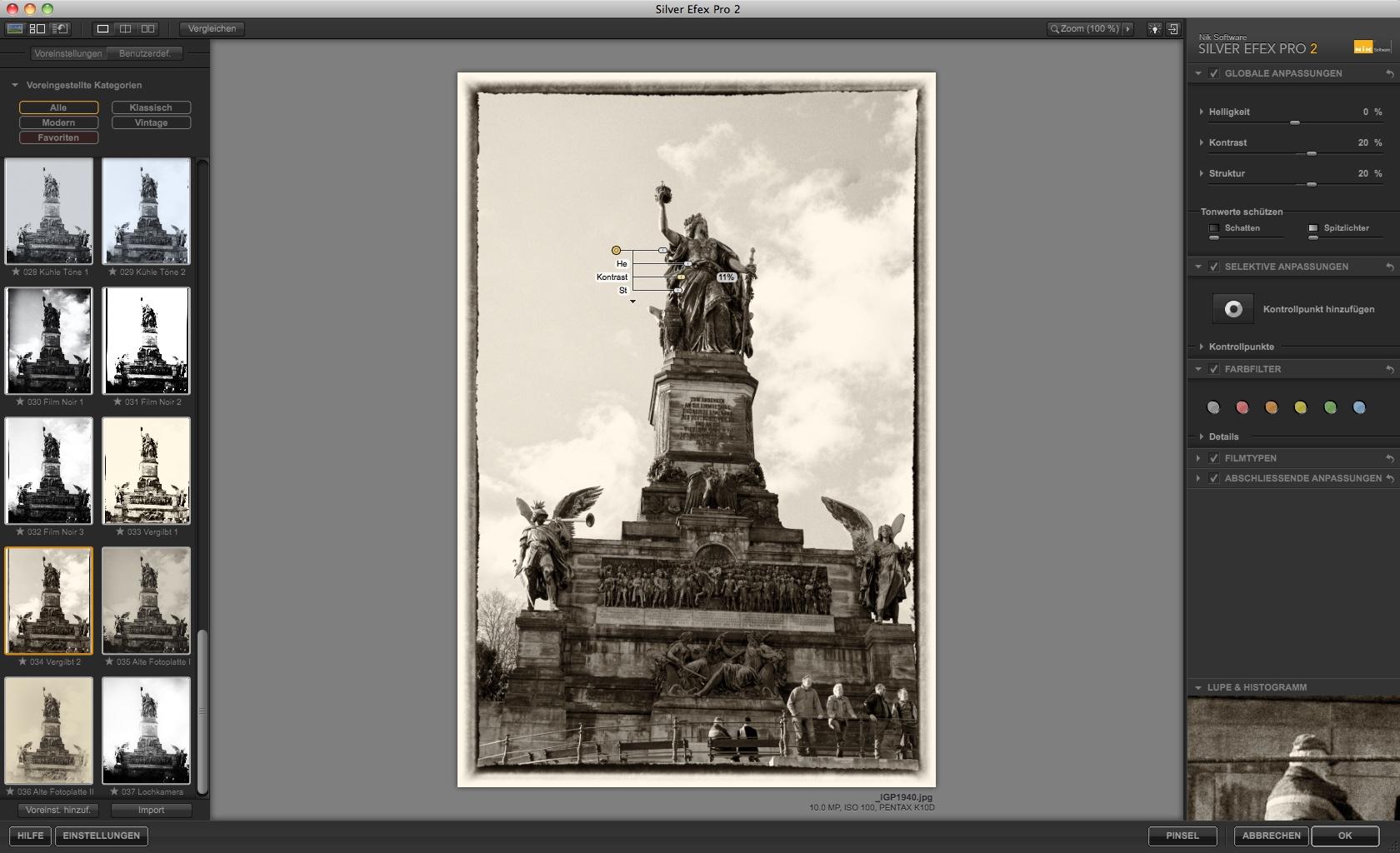 Nik Software: Bildbearbeitung für Schwarz-Weiß-Fotos - Silver Efex Pro 2 - Effekt vergilbtes Foto (Foto: Andreas Donath)