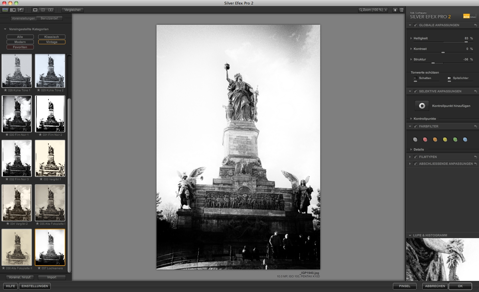 Nik Software: Bildbearbeitung für Schwarz-Weiß-Fotos - Silver Efex Pro 2 - Effekt Lochkamera (Foto: Andreas Donath)