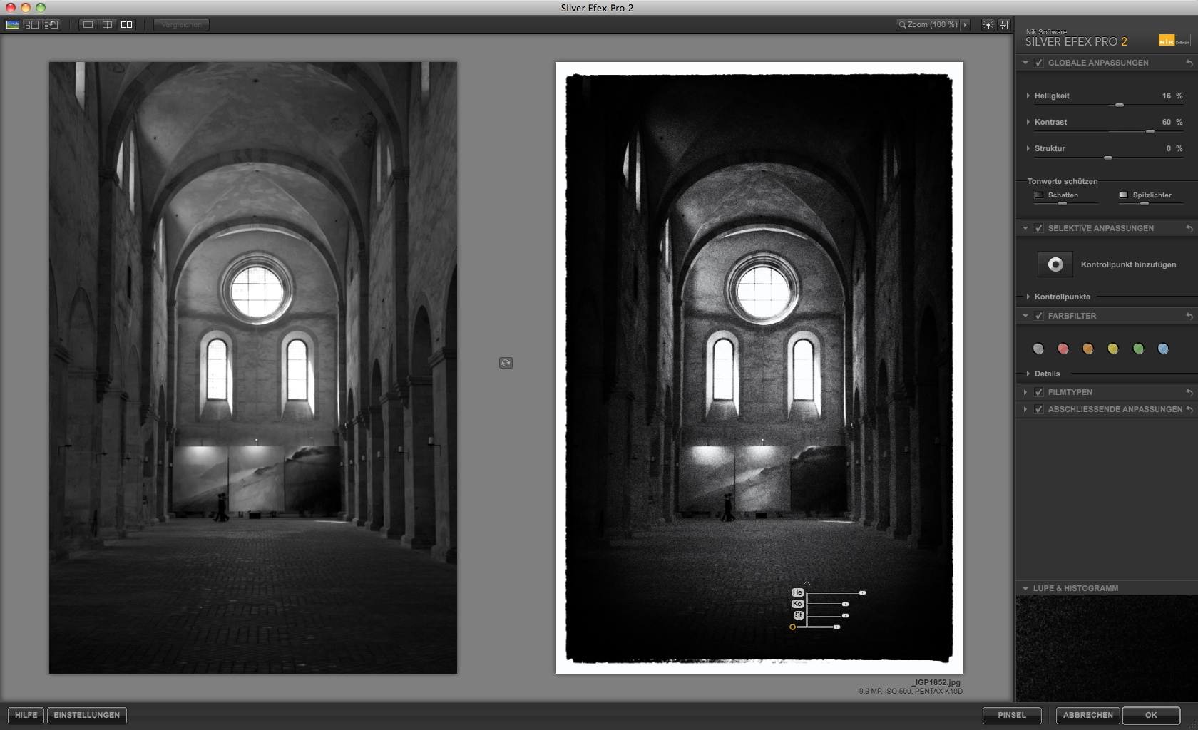 Nik Software: Bildbearbeitung für Schwarz-Weiß-Fotos - Silver Efex Pro 2 - Filmkorn (Foto: Andreas Donath)