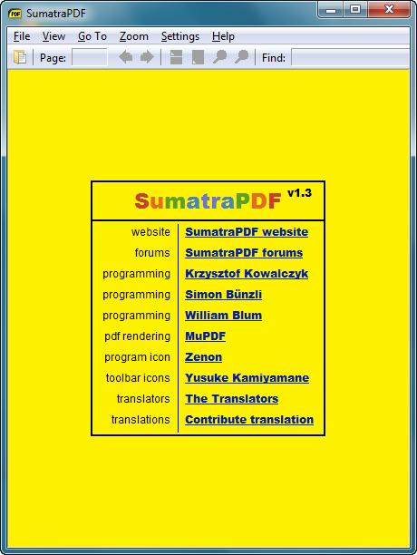 PDF-Viewer: Sumatra 1.4 mit Browser-Plugins - Sumatra PDF 1.4