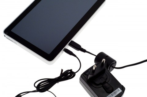 Viewsonics Viewpad 7 wird per USB aufgeladen.
