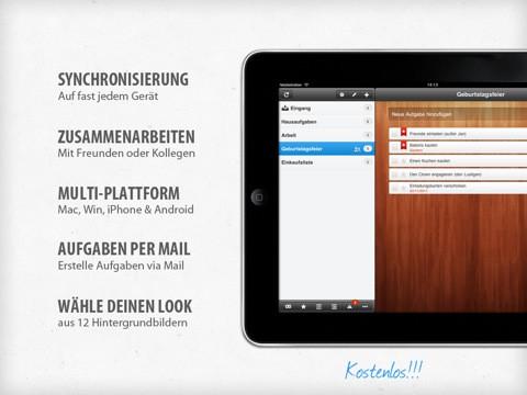 Wunderlist HD für das iPad