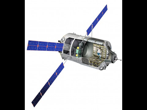 Schnittbild des Raumtransporters (Bild: D. Ducros/ Esa)