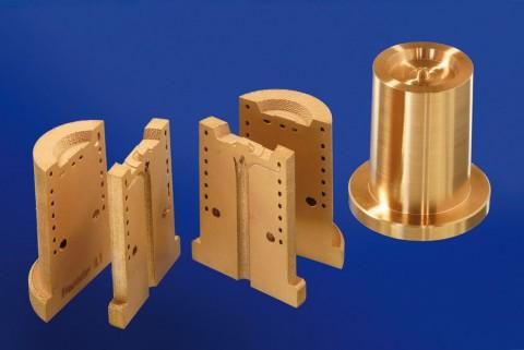 Das Werkstück wurde per SLM aus einer Kupferlegierung gefertigt. (Foto: Fraunhofer ILT)