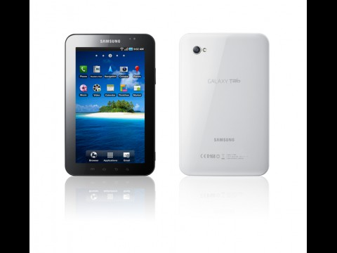 Galaxy Tab - wiegt 380 Gramm, ob mit oder ohne UMTS (Bild: Samsung)