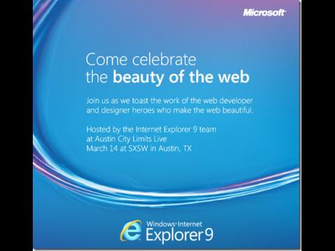Microsofts Einladung zur IE9-Party (Bild: Microsoft)