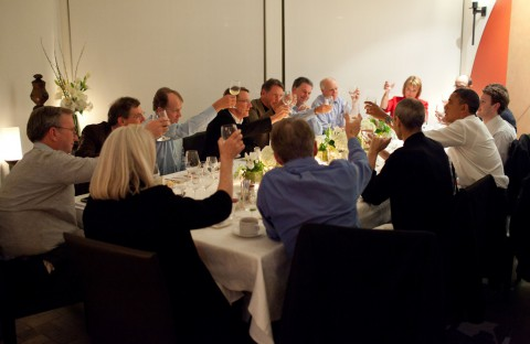 Steve Jobs, Eric Schmidt, Larry Ellison, Mark Zuckerberg und andere mit dem US-Präsidenten (Foto: Pete Souza, Weißes Haus)