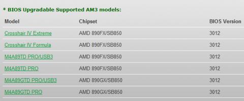 Asus-Mainboards mit AM3 und Bulldozer-BIOS