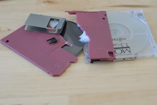Eine Floppy nach mehreren Versuchen, Frontier auf das Notebook zu kopieren und zu installieren