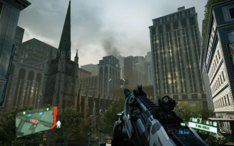 Kirche in New York (hoch)