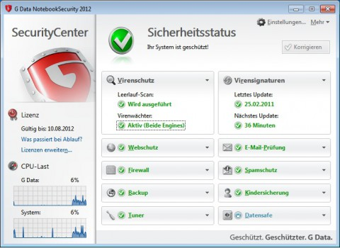 G Data Notebook Security 2012