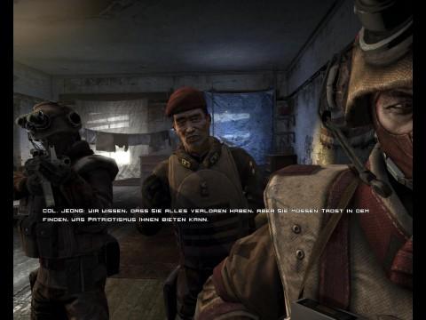 Mit Colonel Jeong hat es der Spieler mehrfach zu tun.
