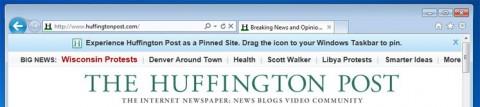 Internet Explorer 9 erlaubt es, Seiten anzuheften.