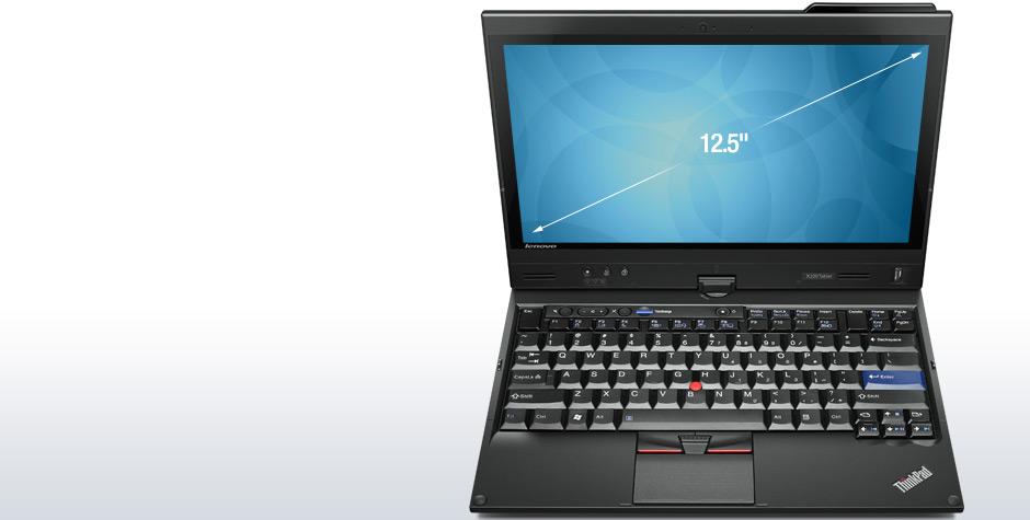 Lenovo: Thinkpads der X-Serie bekommen 12,5-Zoll-Displays (Update) - Lenovo Thinkpad X220t. Das Display ist schwenkbar. Oben rechts ist die Position der Mobilfunkantenne zu sehen.