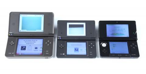 Von links nach rechts: DSi XL, DSi, 3DS (Foto: mw)