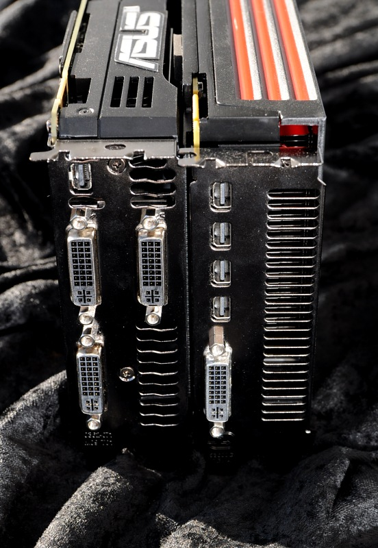 Geforce GTX 590 im Test: Nvidias Doppel-GPU ist leiser, aber nicht immer schneller - Drei DVI-Ports verhindern besseren Luftstrom.