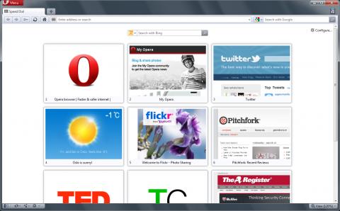 Opera 11.10 - Speed-Dial-Seite mit drei Spalten