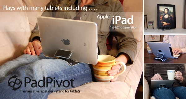 Kickstarter: Tablet-Halterung stößt auf großes Interesse - Padpivot mit iPad