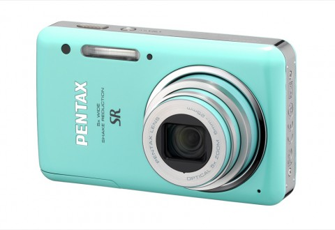 Pentax Optio S1 in Mintgrün