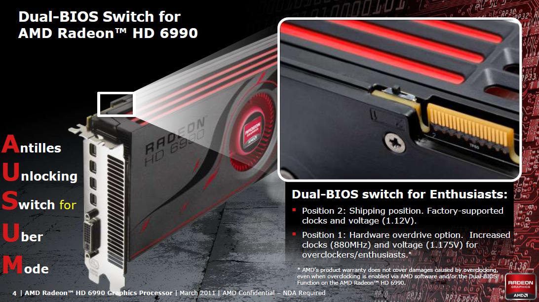 AMD Radeon HD 6990 im Test: Grafikmonster mit 500 Watt für 600 Euro (Update) - AMD findet 500 Watt 'awesome'.