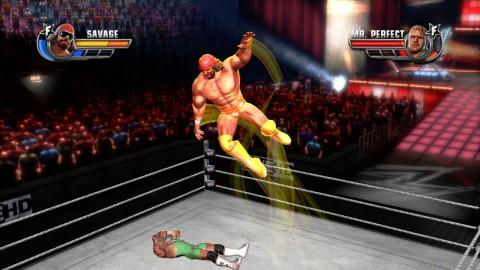 Randy Savage mit seinem Elbow Drop