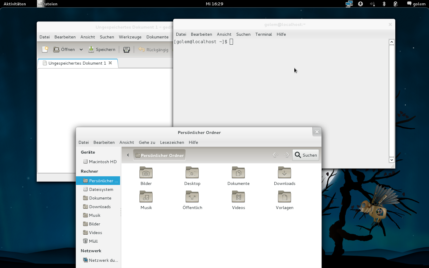 Linux-Desktops: Gnome 3 mit Shell und Mutter