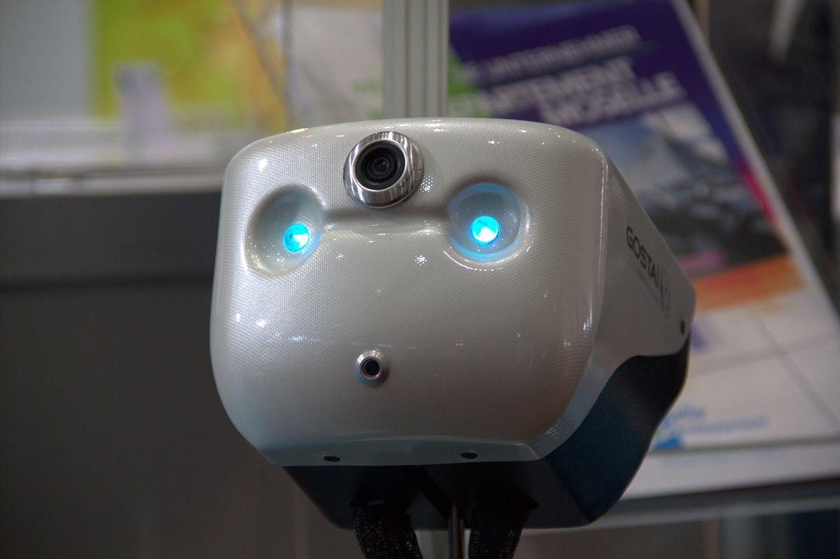 Gostai Jazz: Telepräsenzroboter bekommt ein Display - Vorher hatte der Roboter ein stilisiertes Gesicht. (Foto: wp)