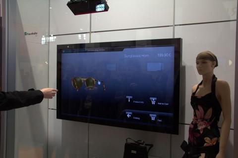Das interaktive Schaufenster des Fraunhofer HHI (Foto: wp)