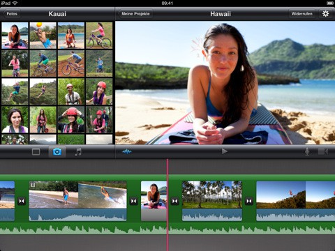 iMovie auf dem iPad - Einbinden von Fotos
