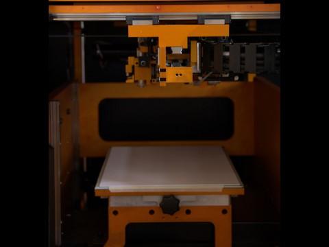 Blick in den 3D-Drucker Matrix 300 von Mcor Technologies (Foto: wp)
