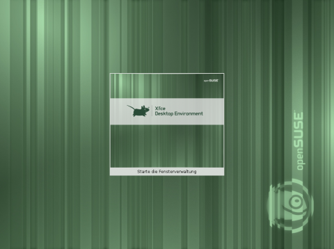 Der XFCE-Desktop Splash-Screen