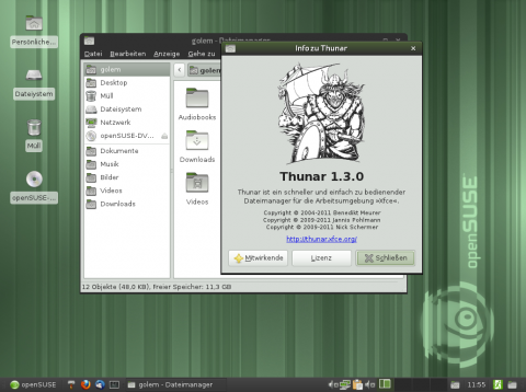 Der Dateimanager Thunar 1.3.0