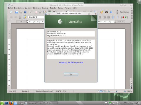 Libreoffice Version 3.3.1