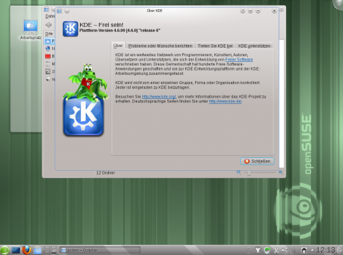 Der KDE-Desktop in Version 4.6.0
