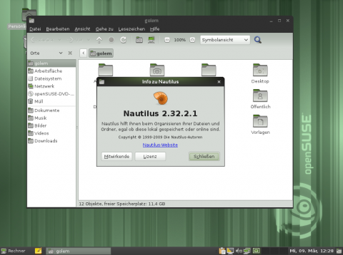 Der Gnome-Dateimanager Nautilus