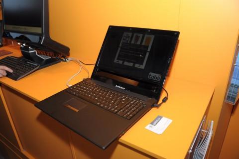 Lenovo-Prototyp mit integriertem Eyetrackingsystem von Tobii (Foto: as)