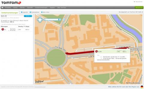 Tomtom Verkehrsmeldungen - Echtzeit-Verkehrsinformationen in Onlinekarten